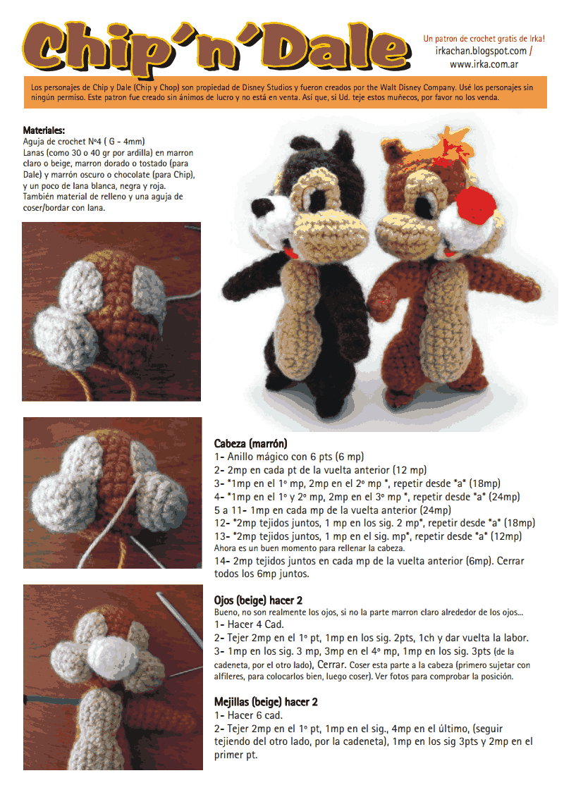 Chip and Dale crochet!! | Crocheting! | Pinterest | Pdf, Crochet and ...