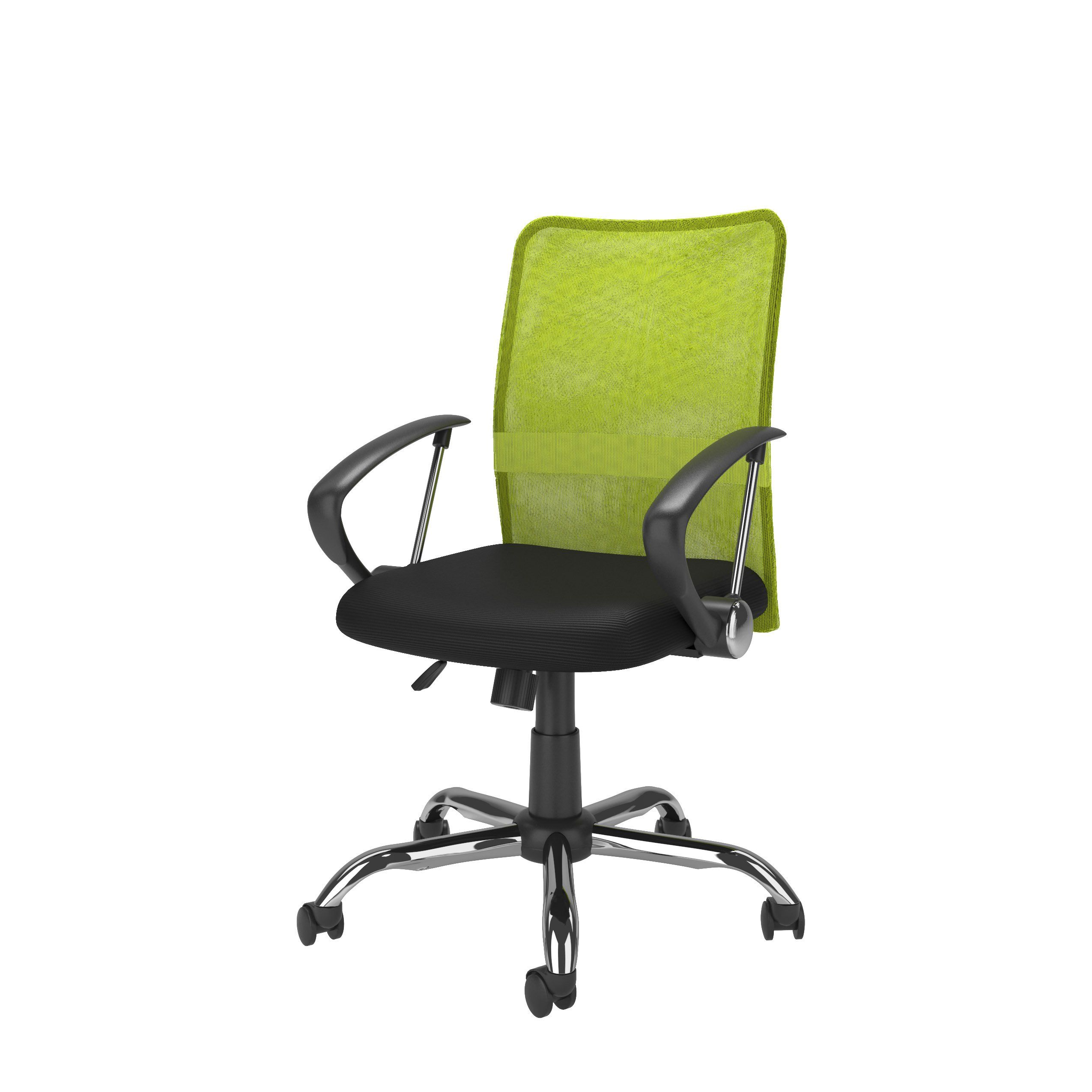 Lime Green and Black Mesh Office Chair - Workspace in 50  Black