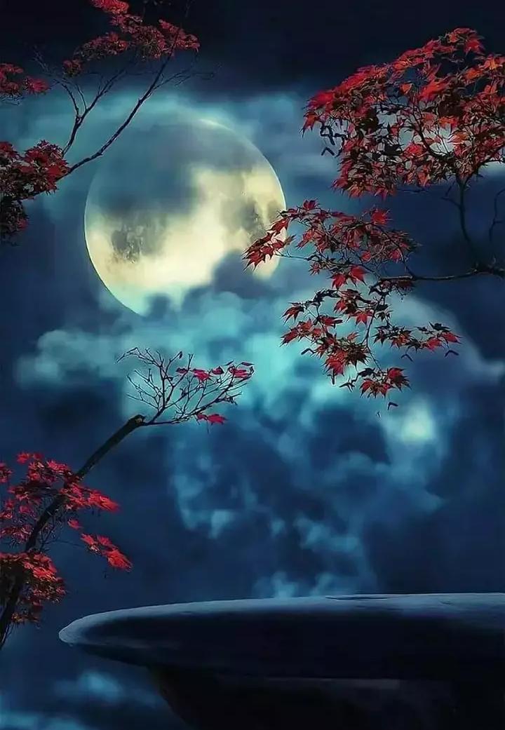 Mond, Sterne, Malerei, Wunderschöner Mond, Landschaftsbau Ideen, Garten  Landschaftsbau, Mond Mond, Sprühfarben Kunst, Schöne Landschaften