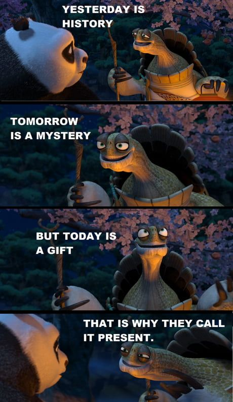 A wise turtle once said…