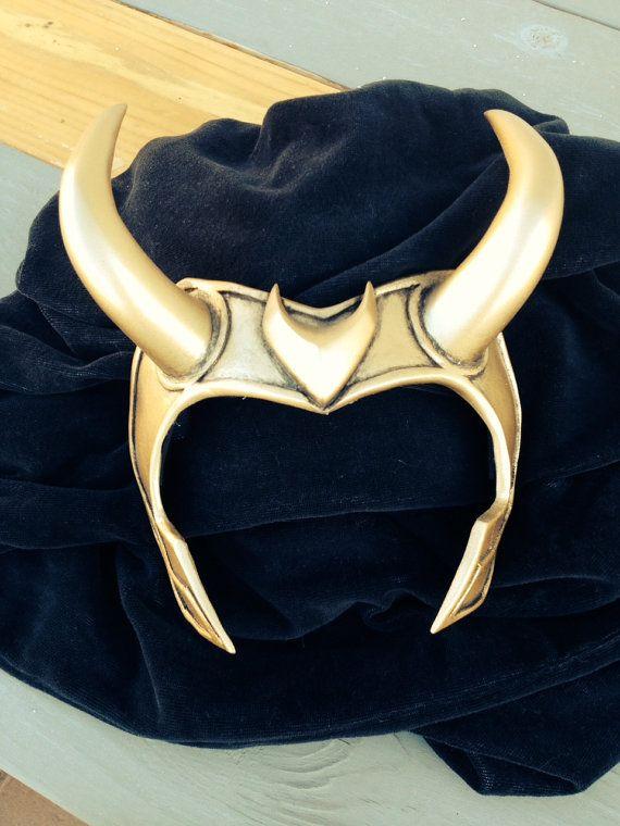 HOT Anime Loki Agent of Asgard Masquerade Party Cosplay Props Golden Horn Helmet