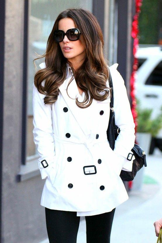 street #fashion white trench coat / fall @wachabuy | Fashion ...