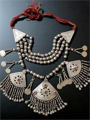 Large old kashmiri tribal jewelry pendant necklace this unusual large old kashmiri tribal jewelry pendant necklace this unusual large old tribal jewellery necklace has aloadofball Image collections