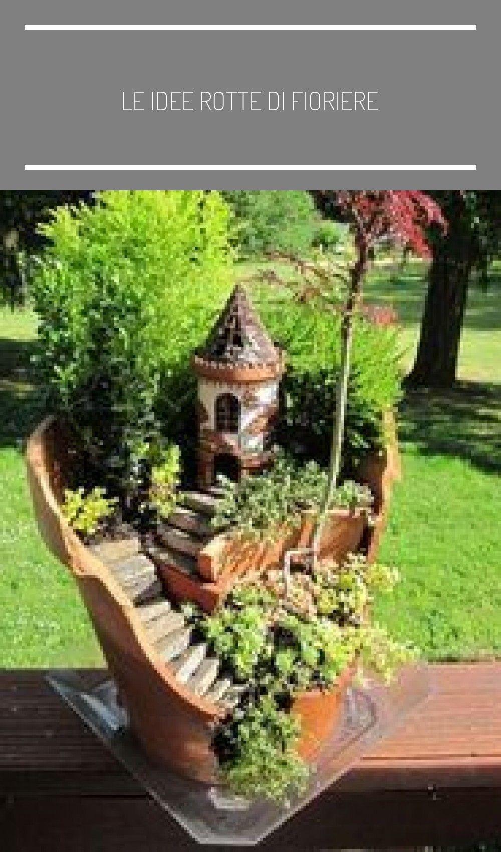 Fai Da Te Giardino Zen le idee rotte di fioriere in 2020 | fairy garden, broken