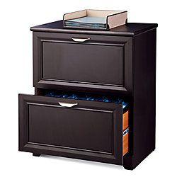Realspace Magellan 24 W 2 Drawer Lateral File Cabinet Espresso