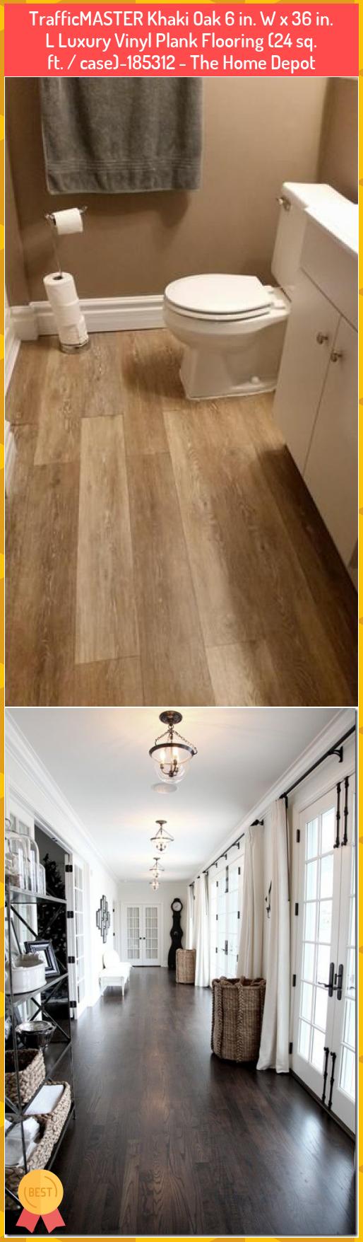 Trafficmaster Khaki Oak 6 In W X 36 In L Luxury Vinyl Plank Flooring 24 Sq Ft Case 185312 The Hom In 2020 Vinyl Plank Flooring Vinyl Plank Luxury Vinyl Plank