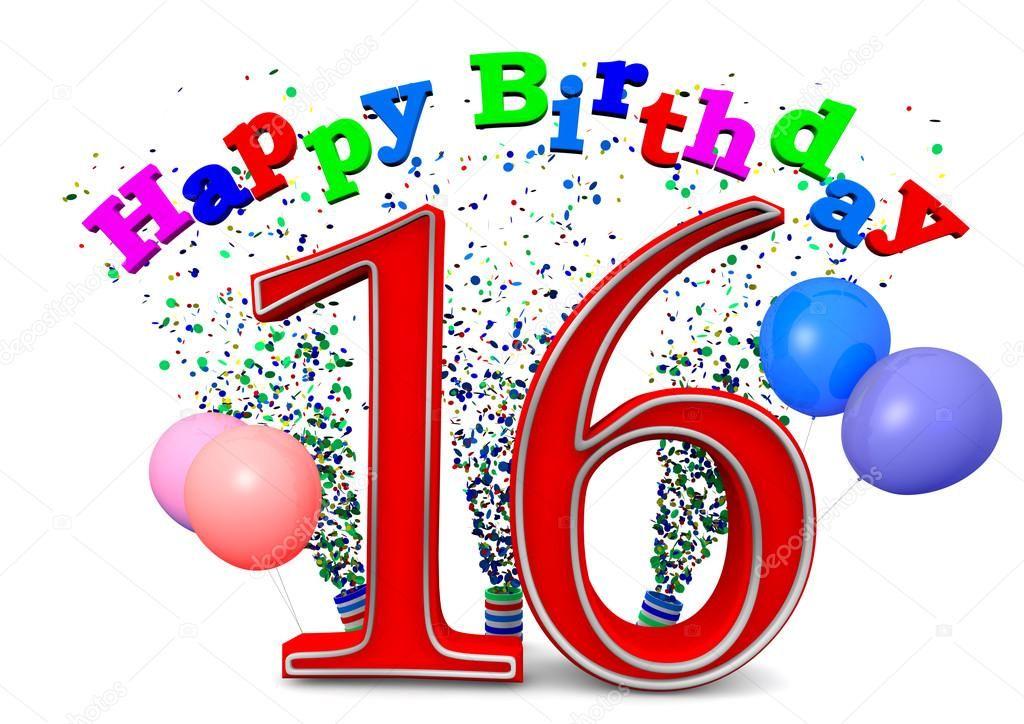 Happy 16th birthday Stock Photo , AFFILIATE, Happy,