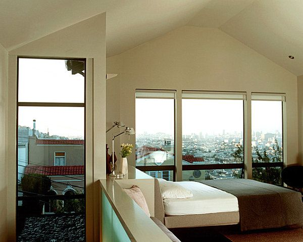20 Unforgettable Rooms With A View Vaulted Ceiling Contemporary Bedroom Modern Living Room
