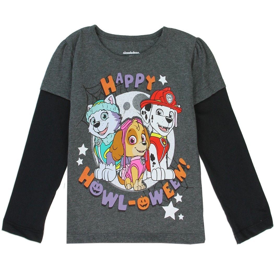 Nick Jr Paw Patrol Toddler Boys Pawsome Long Sleeve Christmas T-Shirt Tee