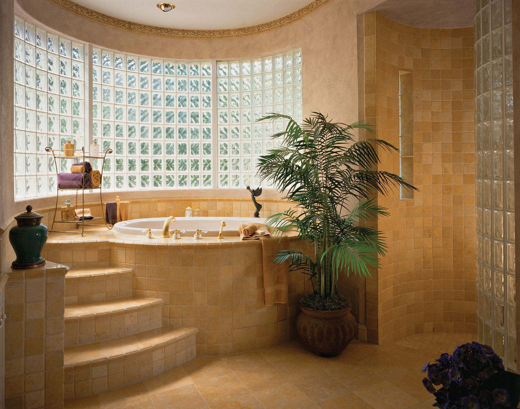 Images On Custom Home Master Bath with Soaking Tub and Snail Shower