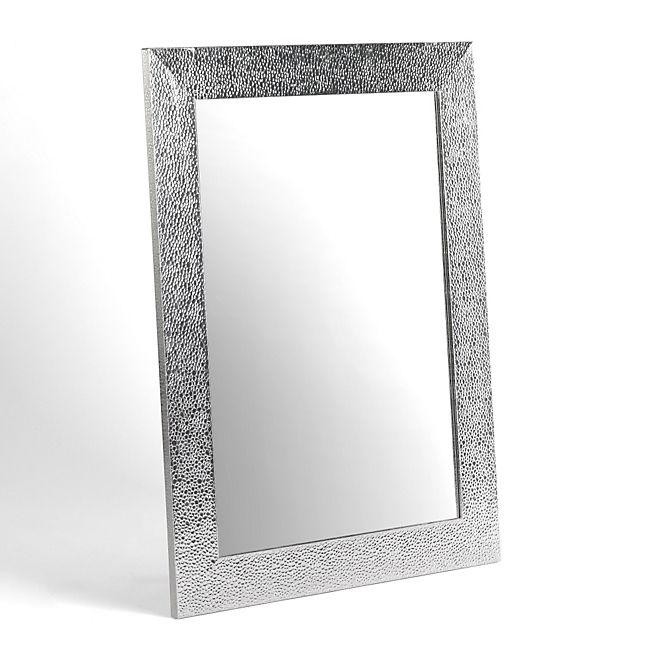 Miroir rectangulaire coloris argent 50x70cm venus toute la déco décoration murale décoration intérieur