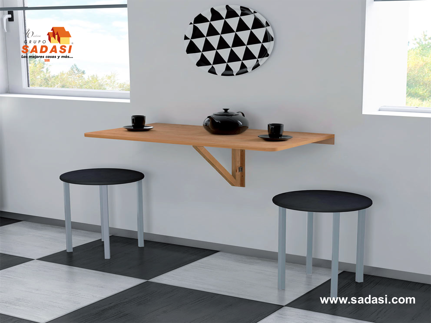M s de 25 ideas incre bles sobre mesa abatible pared en - Mesa de comedor plegable a la pared ...