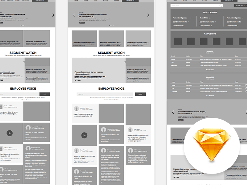 Intranet Website Wireframe | Design Resources | Pinterest | Website ...