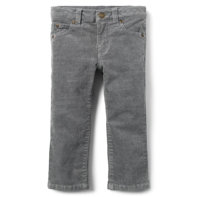 Boys Black /& Gray Corduroy Pants