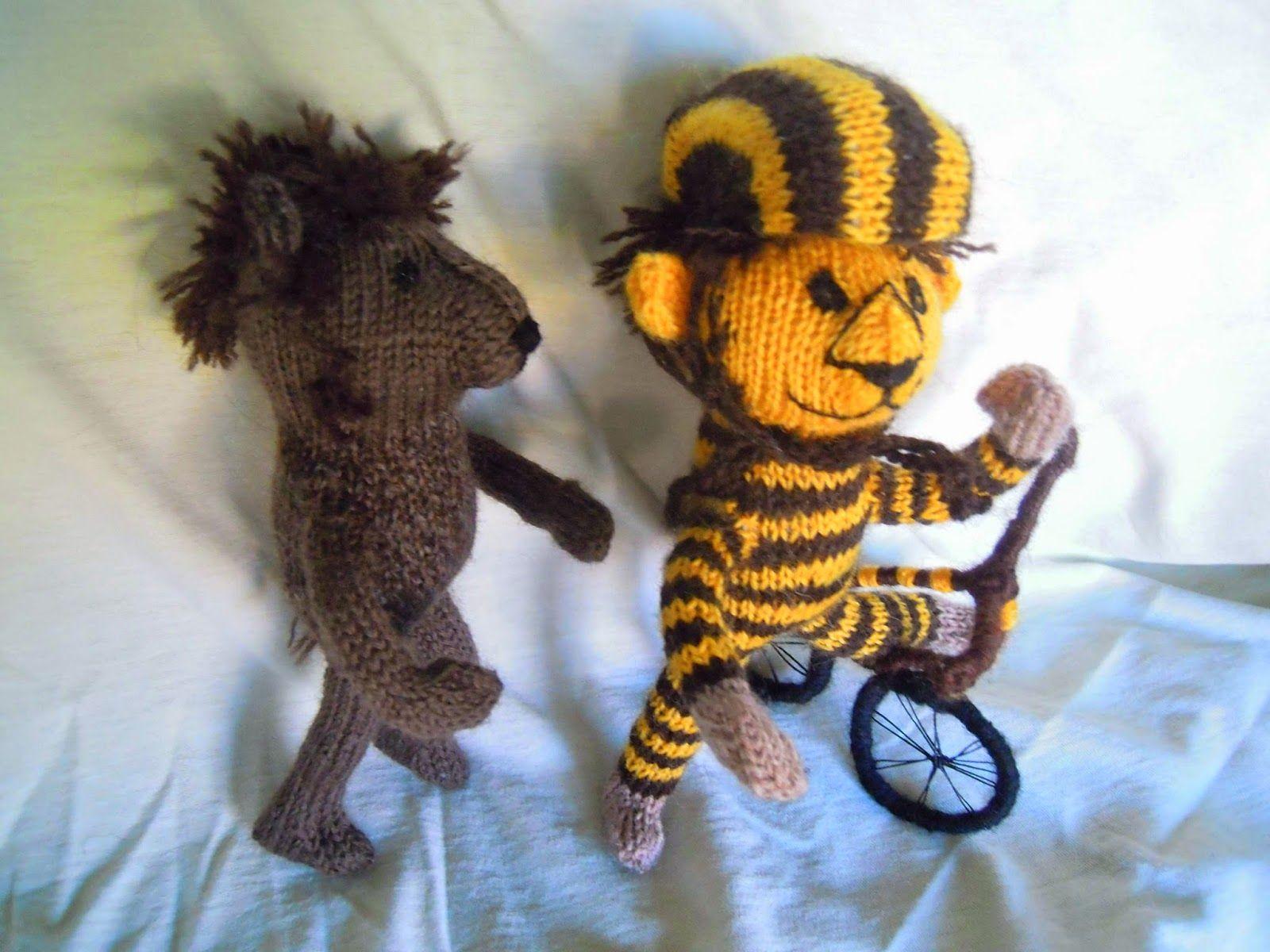 Wollfadengeschöpfe: Kleiner Tiger, kleiner Bär und Maja-Papaya mit ...