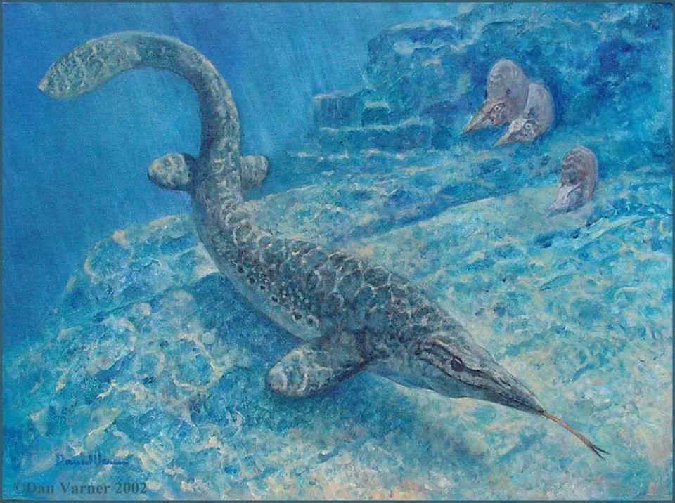 Mosasaurus by Dan Varner