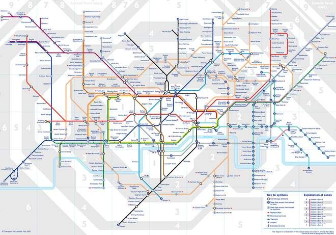 A London Tube map that's far more useful than the 'official ... on london underground rail, london buses route planner, london underground car, london underground transport, london underground tube, london underground security, london underground maps,
