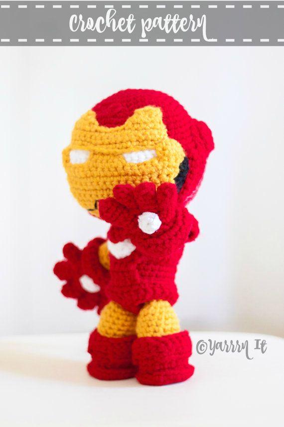 Ironman Inspired doll crochet pattern - PDF pattern | Kinder spielen ...