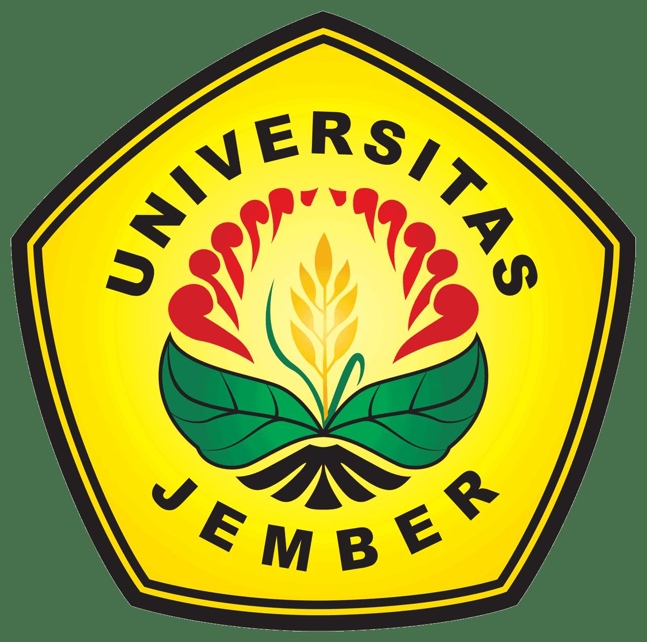 Lambang Universitas Jember Unej Logo Universitas Segi Lima Gagasan