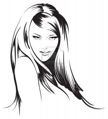 beauty girl face Stock Photo