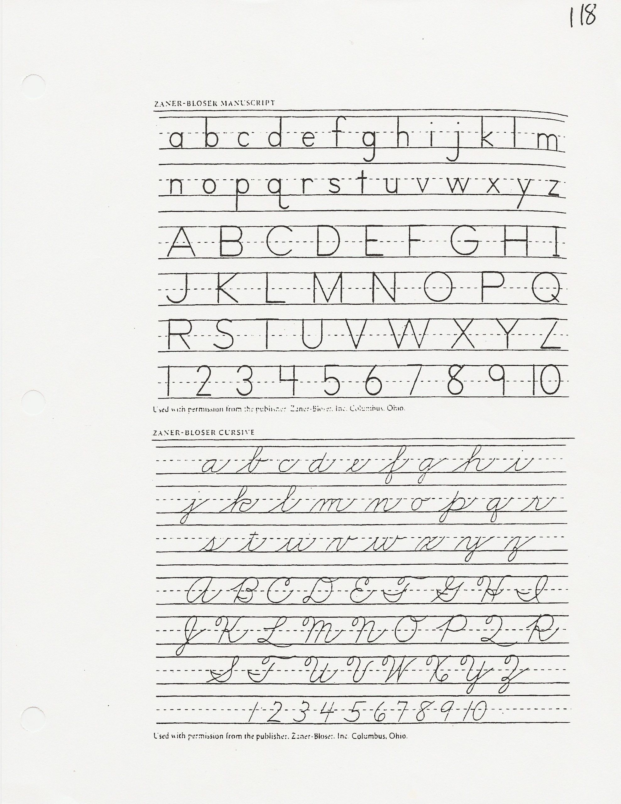Zaner Bloser Handwriting Worksheets Zaner Bloser