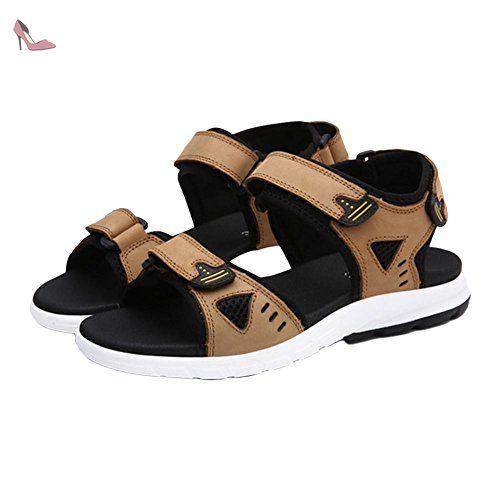 Sandales plates respirantes à la mode d'été khaki 43