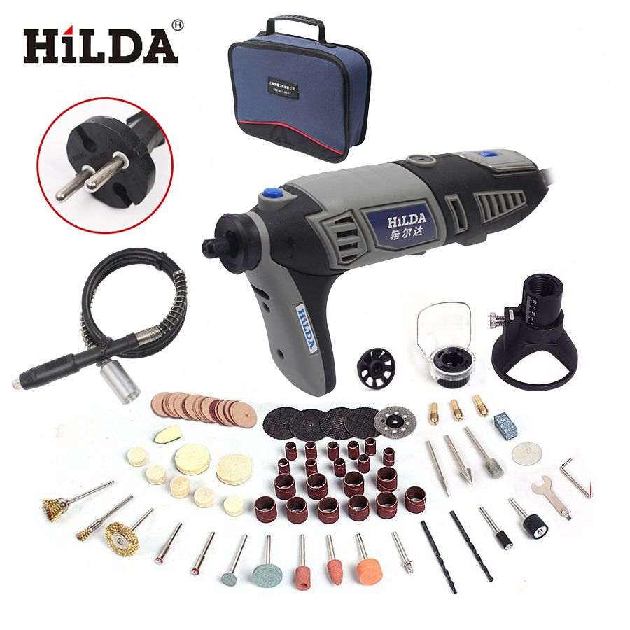 Check Price Hilda Electric Drill Dremel Style Electric Rotary Power Tool  Mini Drill With Flexible #