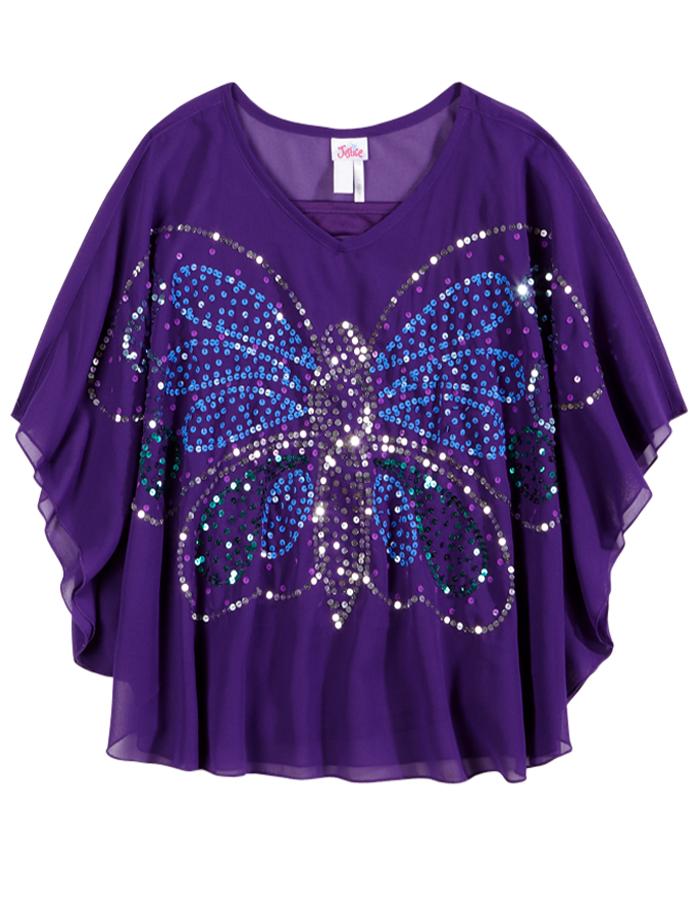 Girls butterfly top