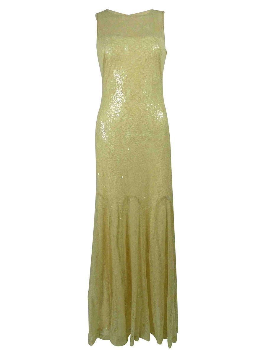 Lauren Ralph Lauren Women's Sequined Lace Gown
