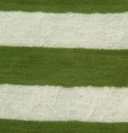 Doodles Collection- Lace Knit Stripe Green Cotton Poly