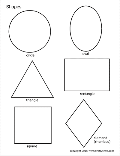 Basic Shapes Free Printable Templates Coloring Pages Firstpalette Com Templates Printable Free Printable Shapes Shape Coloring Pages
