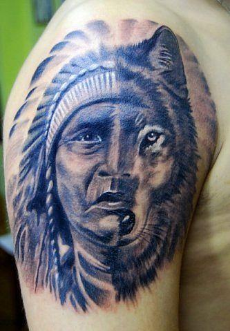 b01e5bb9e6532 wolf, tattoos, designs, tattoo, ideas, 3d, art, indian | Favimages ...