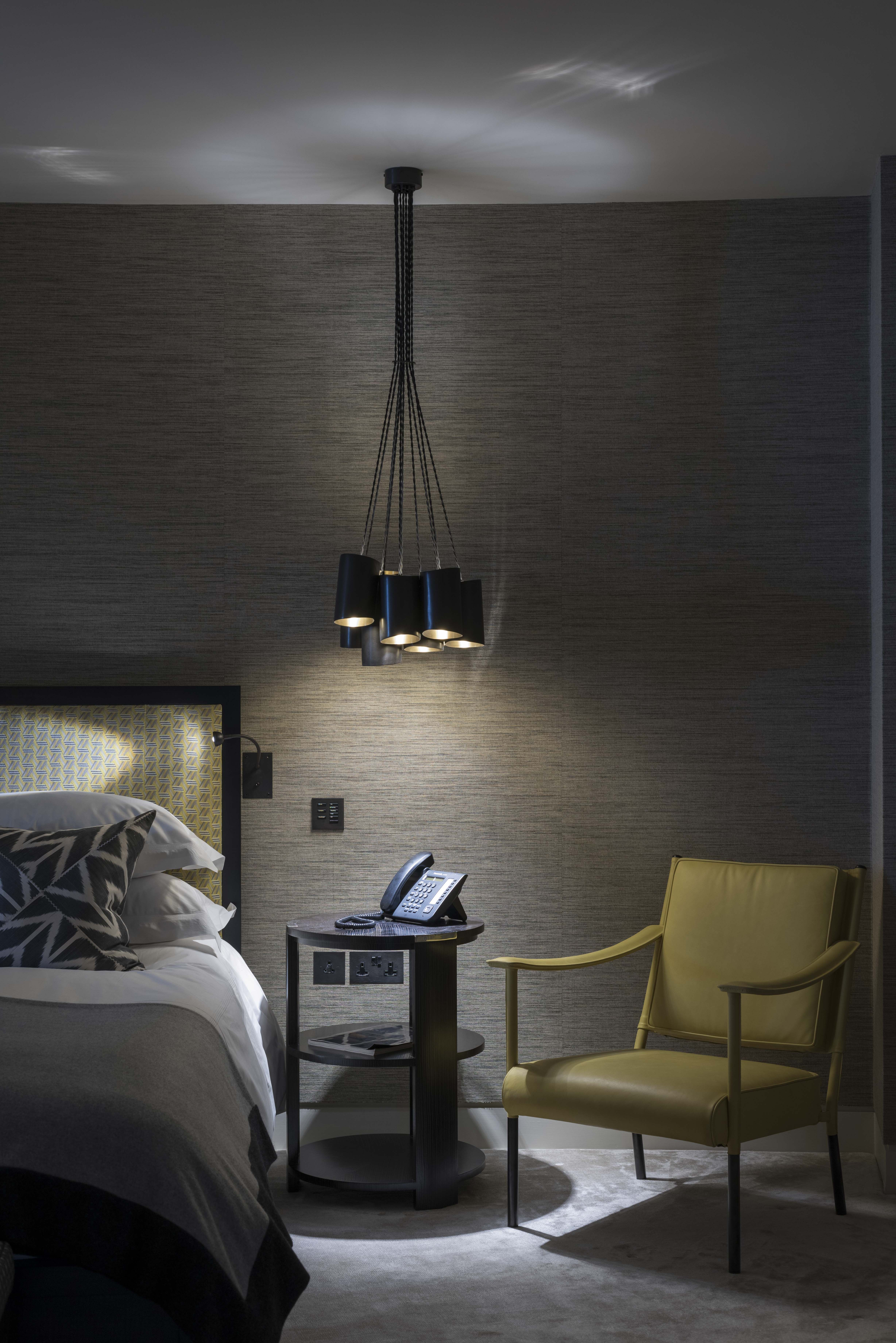 Contemporary Residence Lighting Pendant Acts As Bedside