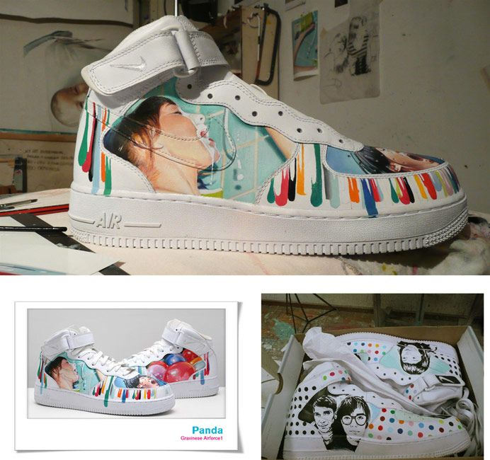 Nike Airforce 1 by Diego Gravineseóleo s/zapatillas ~ oil on sneakers