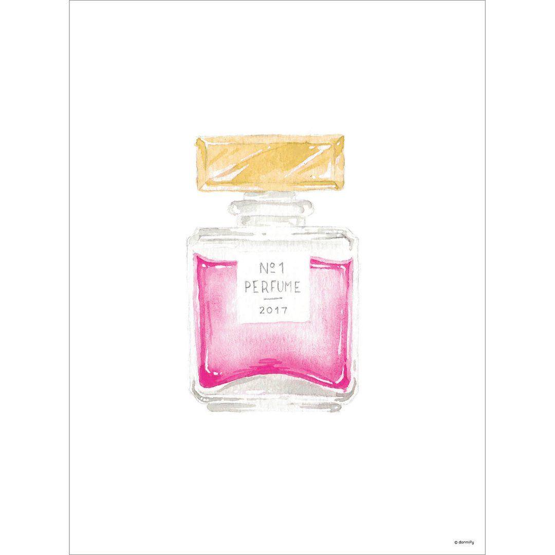 Perfume Bottle Print Light Pink 9x12 Perfume Bottles Dorm Wall Art Perfume