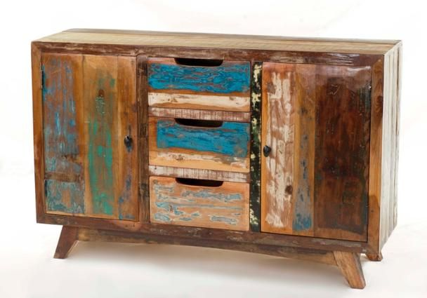 Möbel Used Look used look kommode bunt aus recyceltem - vintage möbel bei möbelhaus