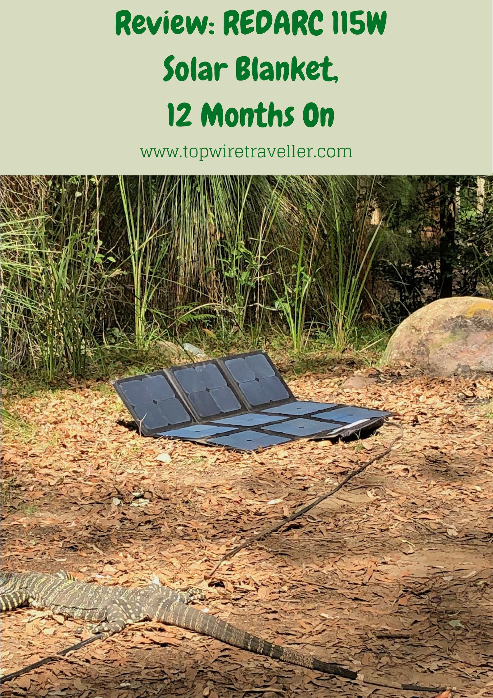 Review REDARC 115W SunPower® Cell Solar Blanket Solar
