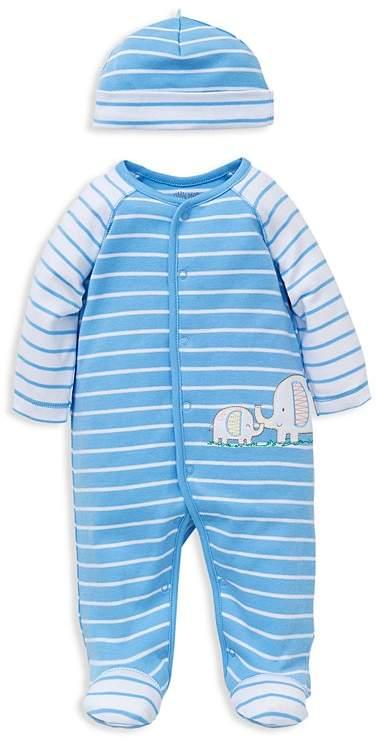 7cd10710cab3 Little Me Boys  Striped Elephant Footie   Beanie Set - Baby