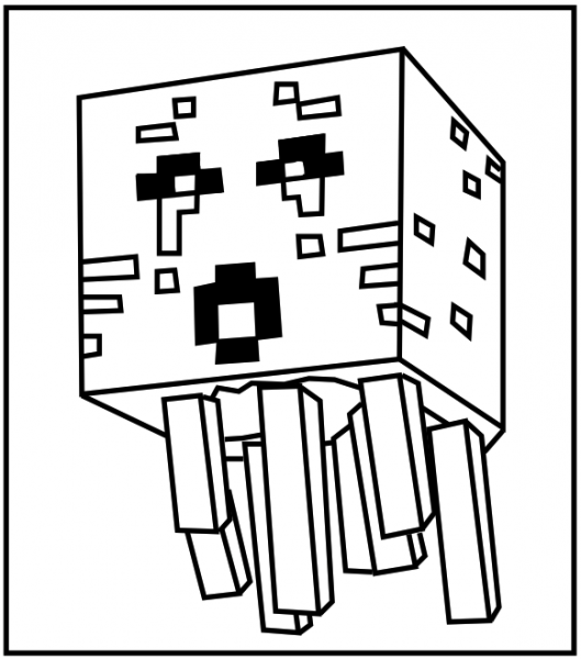 Minecraft Ghast Coloring Pages | Minecraft coloring pages ...