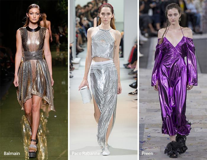 Fashion Spring Summer 2017 Trends Metallic Fabrics