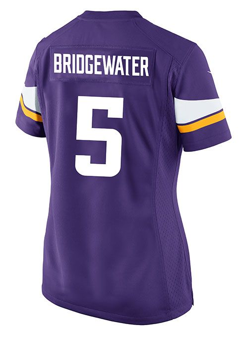 outlet store f51ff ec282 Ladies Teddy Bridgewater Jersey | Womens Teddy Bridgewater ...