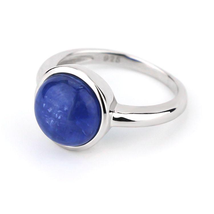 Kyanite Sterling Silver ring Statement Rings Blue kyanite gemstone rings, Gift for her Boho Rings 925 Sterling Silver Jewelry Ring