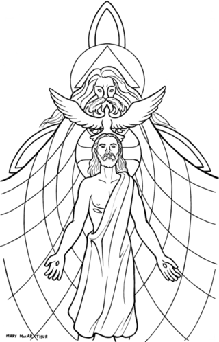 Holy Trinity Catholic Coloring Page The Holy Spirit descended upon ...