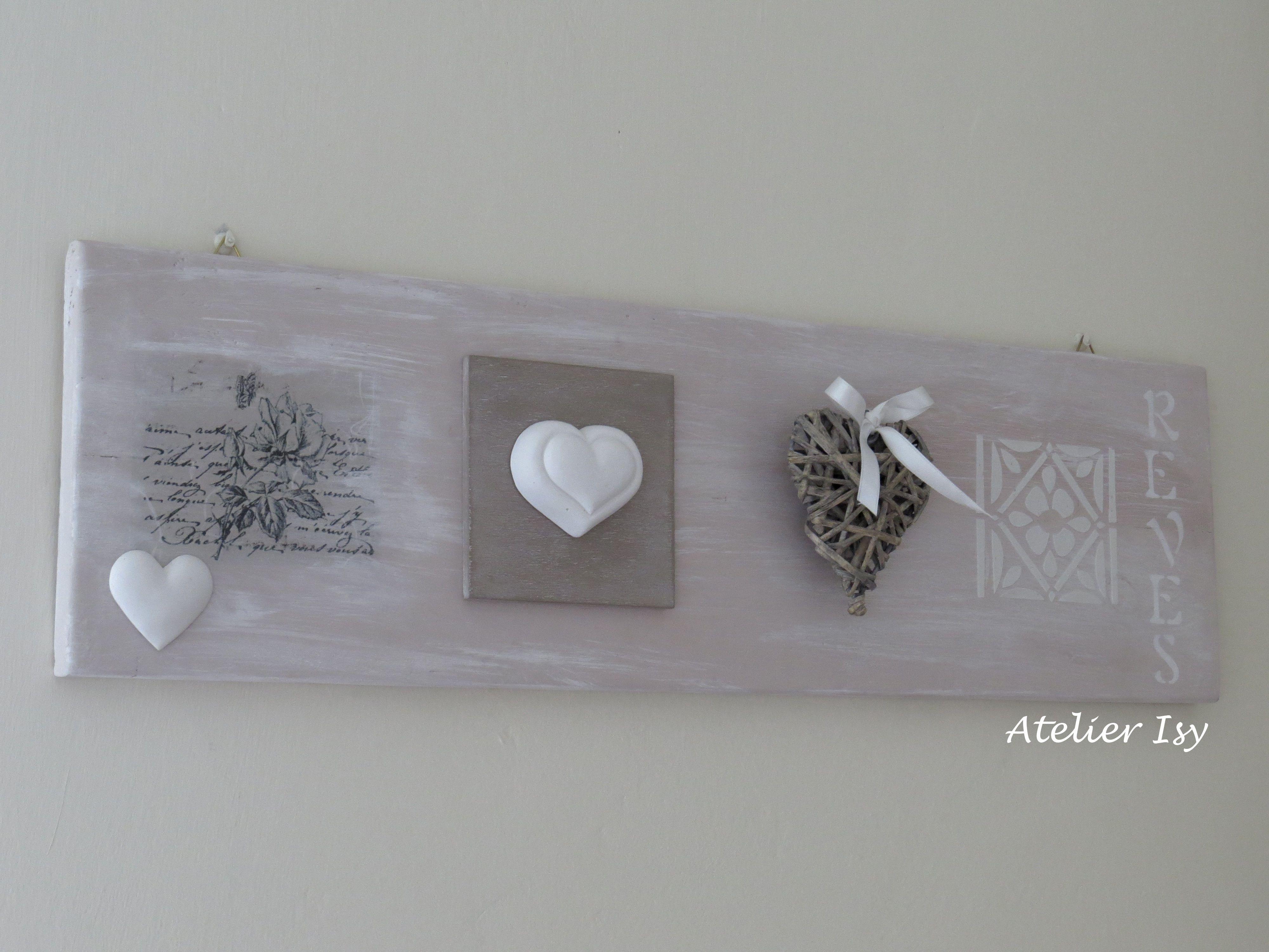 Pareti In Legno Shabby : Decorazione da parete in legno stile shabby shabby wooden frame my