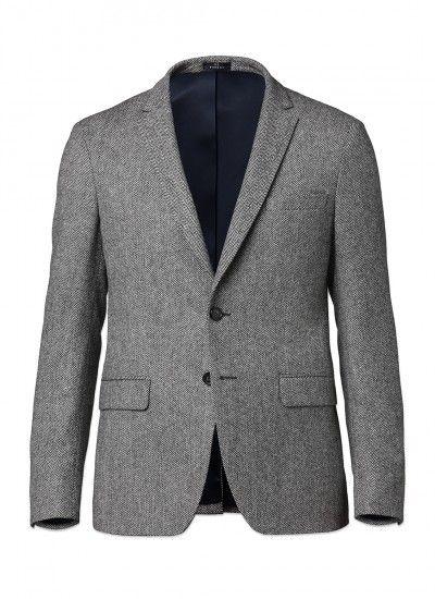 Veste blazer homme sartoriale noir slim fit manteau casual élégant en laine