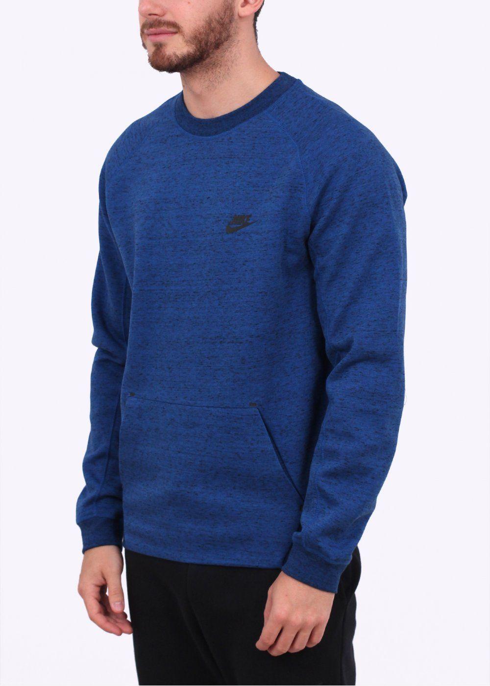 Tech Fleece Crew Game Blue Tech fleece, Nike outfits
