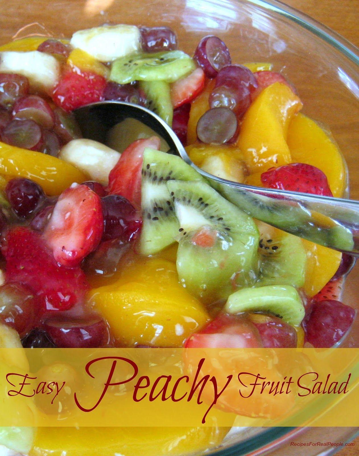 Fruit Salad With Peach Pie Filling Easy Peachy Fruit