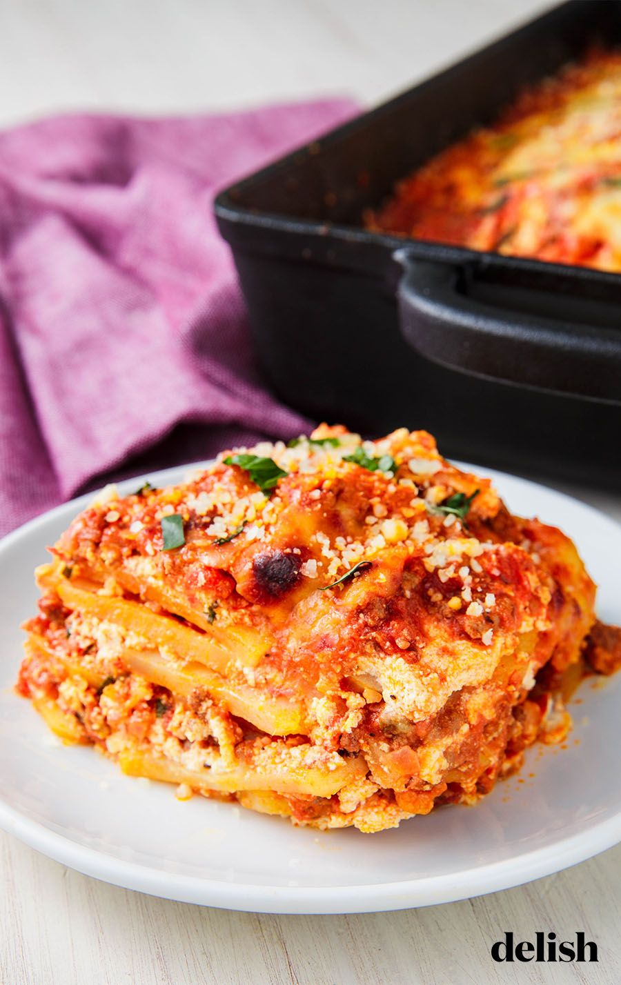 This Cheesy Potato Lasagna Is So Filling You Won T Miss The Pasta Recipe Potato Lasagna Easy Lasagna Recipe Recipes