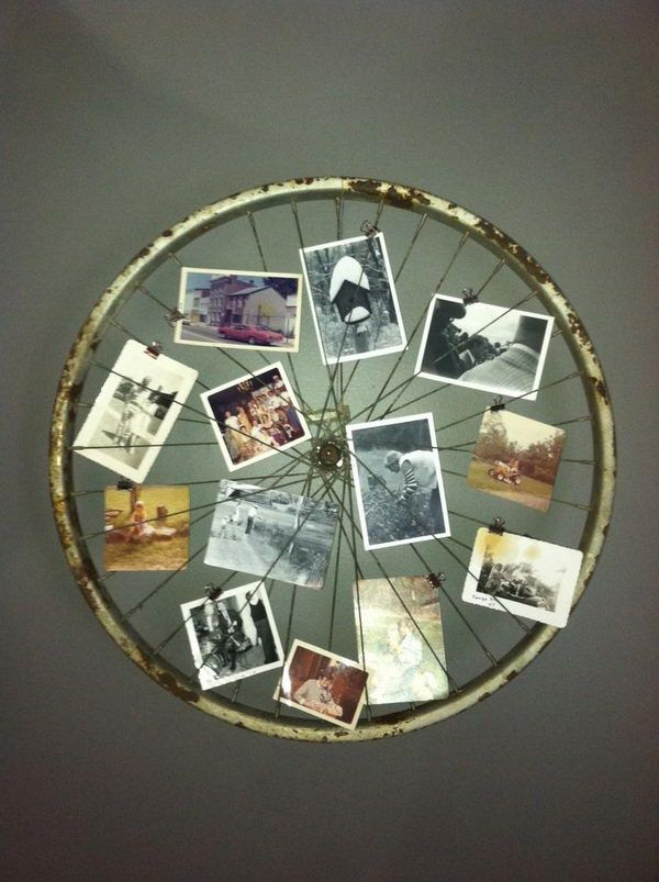 Old Bicycle Wheel Picture Frame Turn An Turned Into A For Your Wall