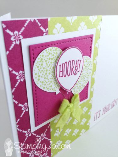 Stamped Birthday Card Hooray Its Your Day Happy Birthday